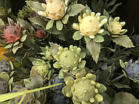 Цветы искусственные для декора колючка (ветка 26 см), фото 1