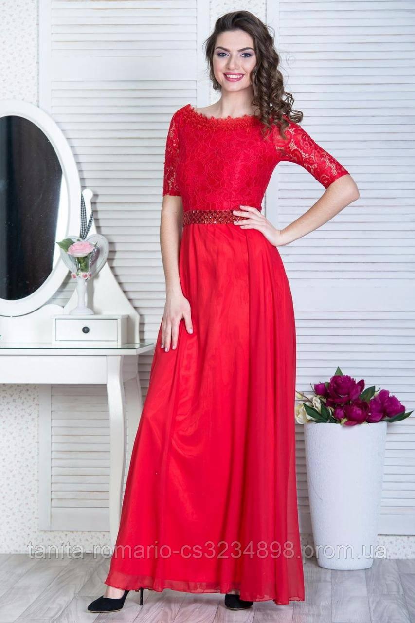 Вечернее платье 6011e Красный S M L
