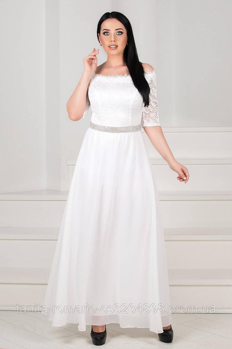 Вечернее платье 6011e batal Молочный XL XL XXXL