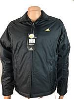 Мужская ветровка,куртка на тонком синтепоне  adidas р-р 46-52,черная.Предоплата
