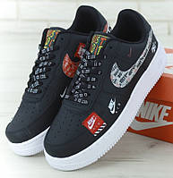 "Мужские Кроссовки Nike Air Force 1 '07 Just Do It Pack ""Black"""