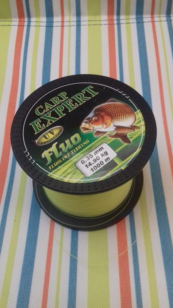 Леска рыболовная 1000 метров Carp Expert Fluo ВЕНГРИЯ 0.25mm 8.9 кг оригинал