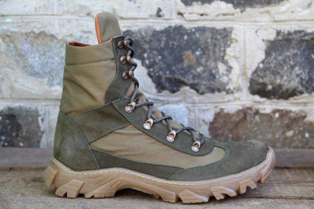 Берцы из натуральной кожи тактические ботинки из натуральной зеленой кожи RZ 5154-13-3