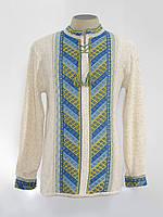 Вязанка мужская длинный рукав Лестница желто-голубая | Вязанка чоловіча довгий рукав Драбинка жовто-блакитна