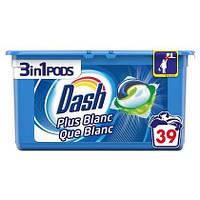 Капсули для прання універсального білизни Dash Blanc Plus Que Blanc 3 в 1 39 шт, фото 1