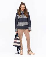 Куртка женская комбинированная с твидом, фото 1