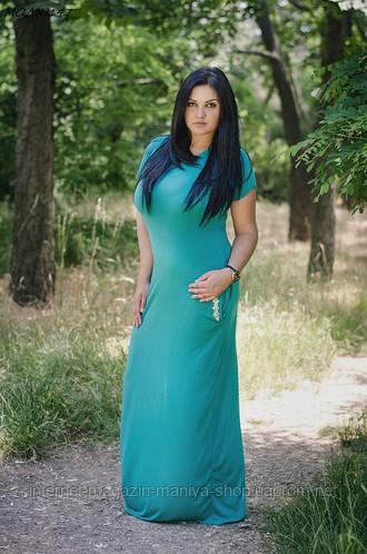 Платье батальное из вискозы