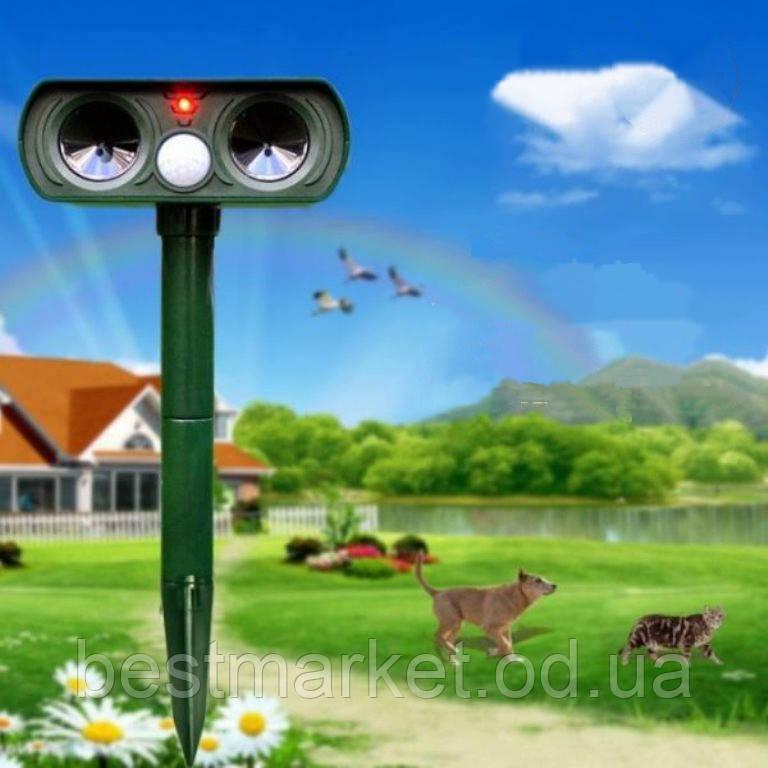 Ультразвуковий Відлякувач Гризунів, Собак і Кішок на Сонячній Батареї Solar Animal Repeller(0351)