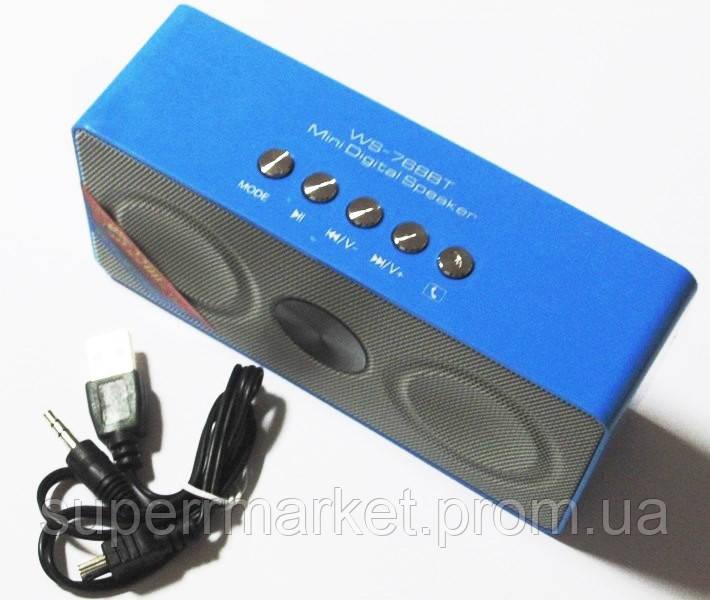 Портативная беспроводная колонка  динамик  радио WS-768BT Bluetooth