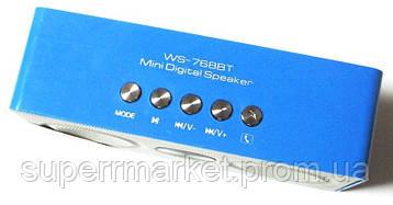 Портативная беспроводная колонка  динамик  радио WS-768BT Bluetooth, фото 2