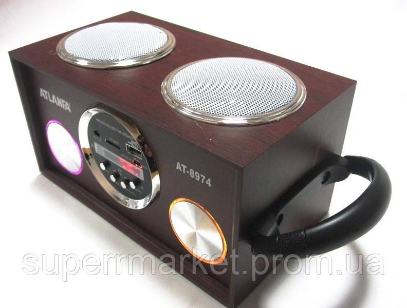 Акустическая колонка  Atlanfa AT-8974 MP3 SD USB FM , red