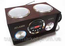Акустическая колонка  Atlanfa AT-8974 MP3 SD USB FM , red, фото 2