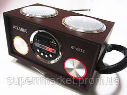 Акустическая колонка  Atlanfa AT-8974 MP3 SD USB FM , red, фото 3