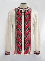 Вязанка мужская длинный рукав Лестница черно-красная | Вязанка чоловіча довгий рукав Драбинка чорно-червона