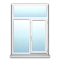 Двухстворчатое окно с поворотно-откидной створкой OpenTeck ELIT 1500х1800 с энергосбережением