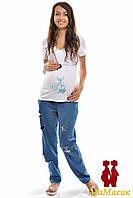 Футболка для беременных-кормящих мам