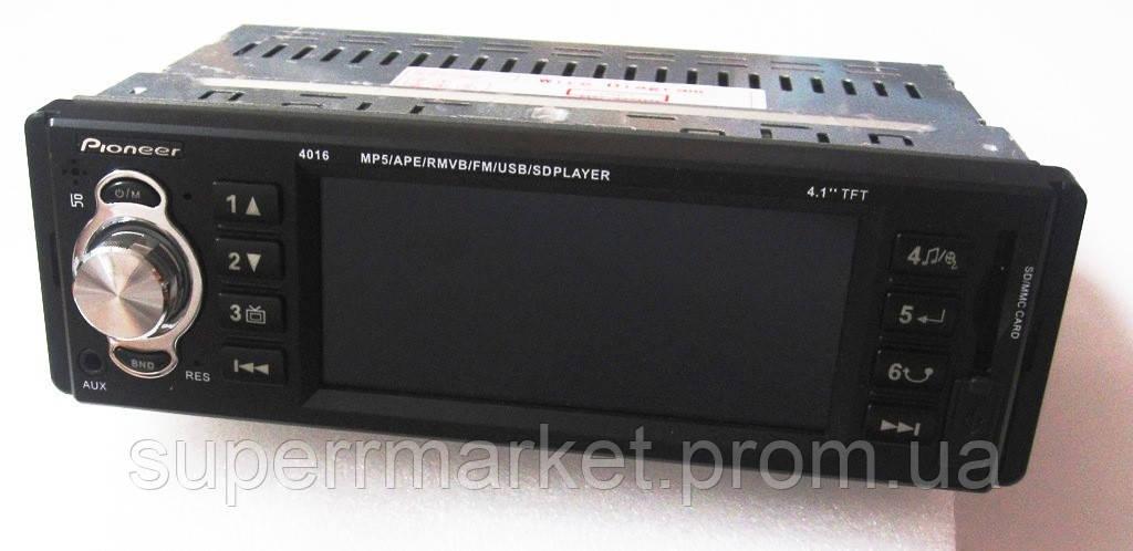 "Автомагнитола Pioneer 4016 с экраном 4,1"" MP5"