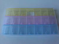 Органайзер 21,5 см цветной 21 ячейка