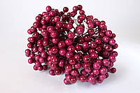 """Глянцевые ягоды  цвета """"бургунди"""" (калина) около 40 шт/уп., фото 1"""