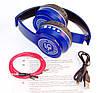 P45 wireless headphone в стиле monster beats solo, Bluetooth наушники с FM и MP3, синие, фото 3