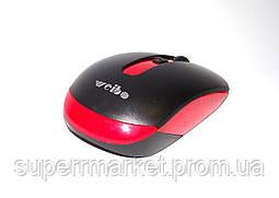 Мышь оптическая беспроводная Weibo RF-4000, черная с красным, фото 3