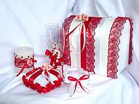Свадебный набор, красно белый.
