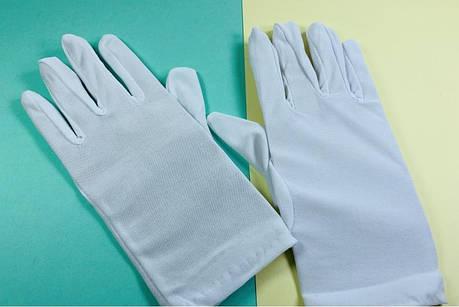 Перчатки эластичные вечерние белые, фото 2