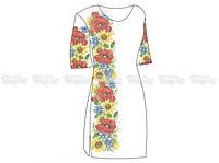 Заготовка женского платья для вышивки бисером «Подарок лета»