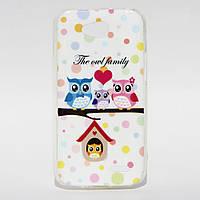 Чехол силиконовый Owl Family для LG L90 D405 Optimus, фото 1