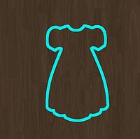 Вырубка Форма для пряника мастики платье разм 6 см можно любой