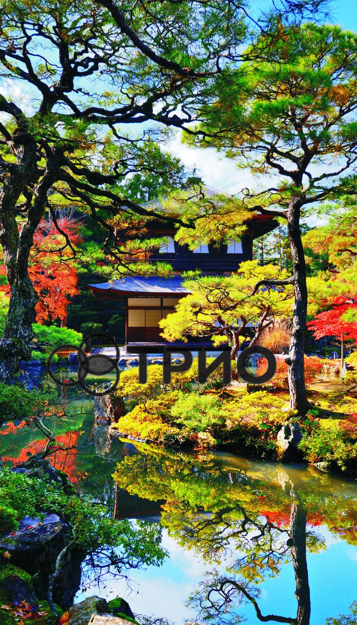 """Настенный инфракрасный обогреватель-картина ТРИО """"Японский сад (сад Киото)"""""""