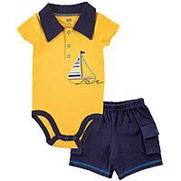 Летний комплект для мальчика  6-9, 9-12 месяцев