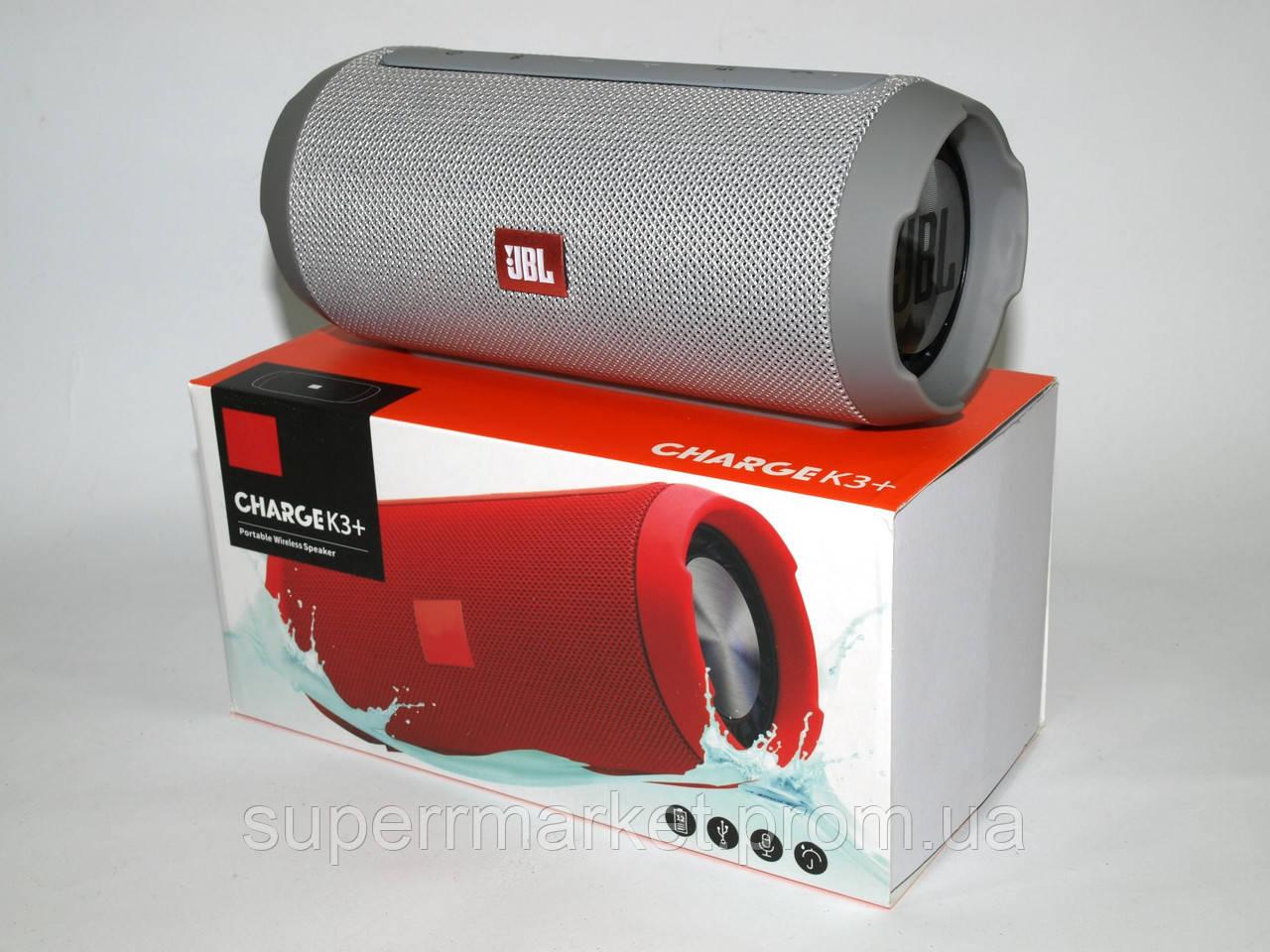 JBL Charge K3+ 15W копия, портативная колонка с Bluetooth FM MP3, серая
