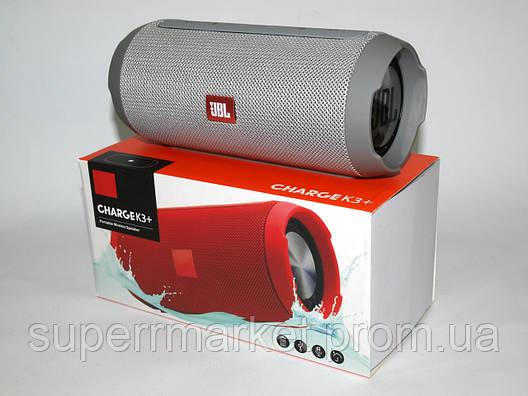 JBL Charge K3+ 15W копия, портативная колонка с Bluetooth FM MP3, серая, фото 2