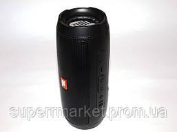 Беспроводная колонка JBL LEATHER DRUM I+ 10W с FM Bluetooth AUX MP3 USB microSD Powerbank, копия черная, фото 3