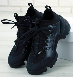 Женские Кроссовки Dior D-Connect Sneaker Black Черные