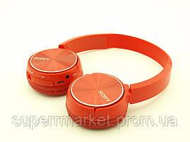 SONY MDR-XB400BY Bluetooth наушники гарнитура c FM MP3 реплика, красные, фото 2