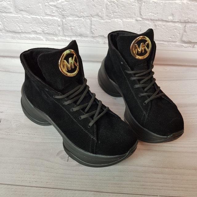Жіночі замшеві черевики в спортивному стилі 36-40 р