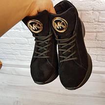 Жіночі замшеві черевики в спортивному стилі 36-40 р, фото 2