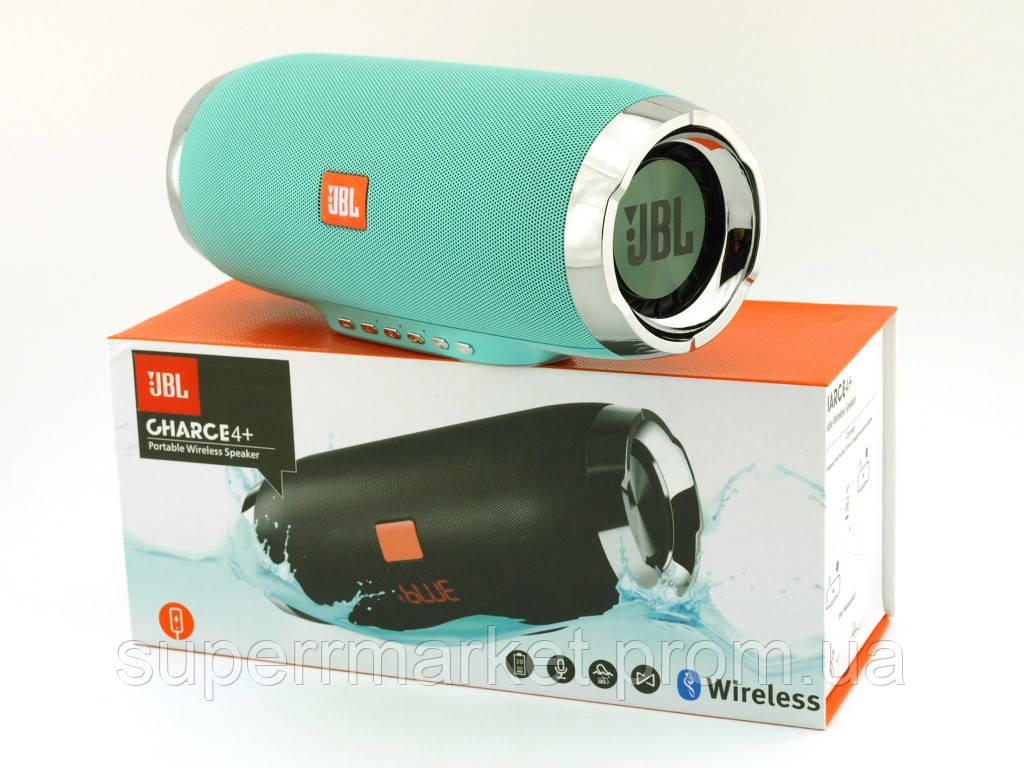 JBL Charge 4+ E4plus 20W копия, портативная колонка с Bluetooth FM и MP3, Teal мятная