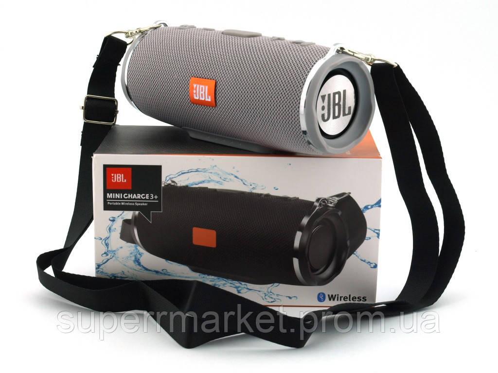 JBL Charge3+ mini в стиле xtreme, портативная колонка с Bluetooth FM MP3, серая