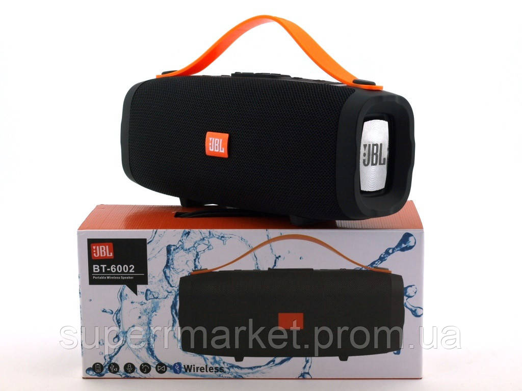 JBL BT-6002 10W копия Explorer CY-34, портативная колонка с Bluetooth FM MP3, черная