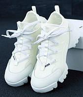 Женские Кроссовки Dior D-Connect Sneaker White Белые