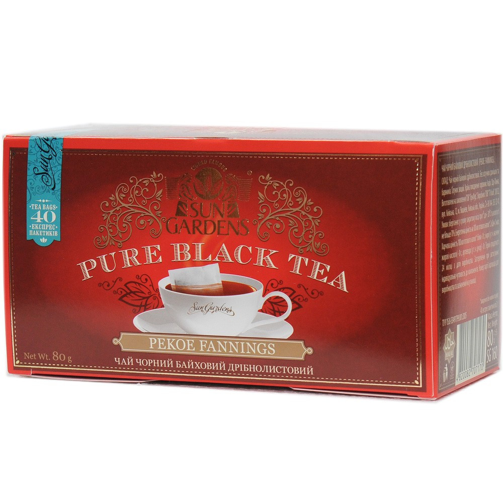 Чай черный Sun Gardens Pekoe Fannings 40 пак.