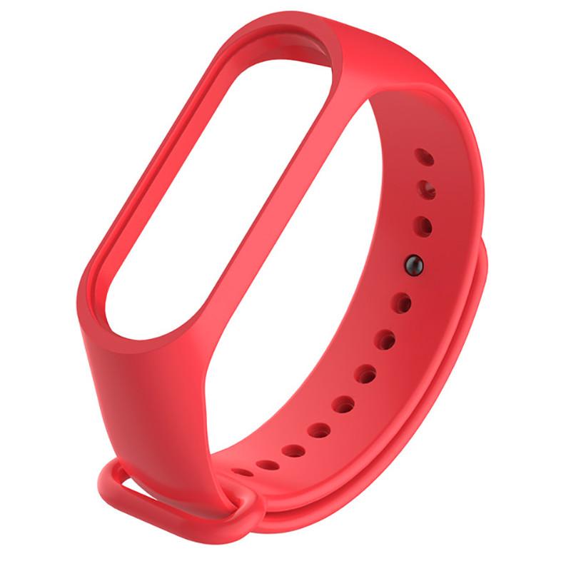 Силиконовый красный ремешок на фитнес трекер Xiaomi mi band 4 / 3 браслет аксессуар замена