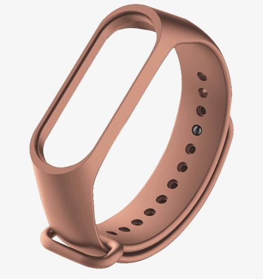 Силиконовый коричневый ремешок на фитнес трекер Xiaomi mi band 4 / 3 браслет аксессуар замена