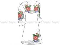 Заготовка женского платья для вышивки бисером «Краски лета»