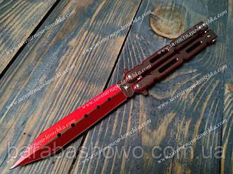 """Нож бабочка """"Skarlet"""". Балисонг красного цвета"""