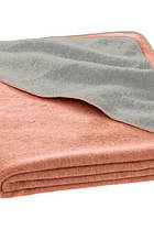 Детский плед из свалянной шерсти 100x140, Disana розовый/серый