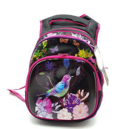 Рюкзак школьный Gorangd 30 х 38 х 16 см Черный с розовым (r1971/2), фото 2